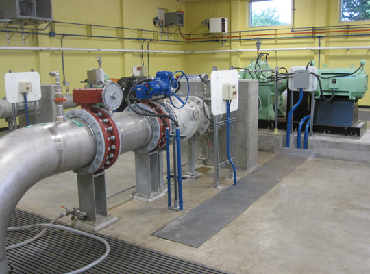 campeau drive pumping station and watermains